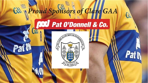 Pat O'Donnell & Co looking forward to our 24th year of sponsorship with Clare GAA